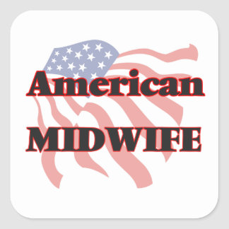 American Midwife Square Sticker