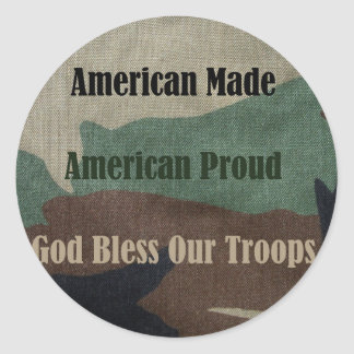 American Military Classic Round Sticker