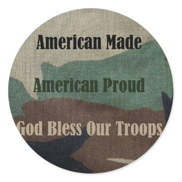 American Military Classic Round Sticker