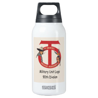 AMerican Military Unit Logo 90th Division Insulated Water Bottle