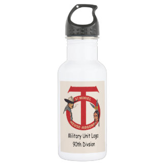 AMerican Military Unit Logo 90th Division Stainless Steel Water Bottle