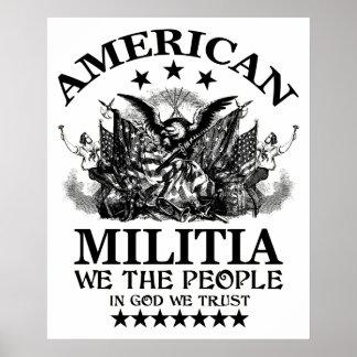 American Militia Posters