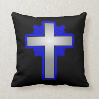 American Mojo Pillow with Cross