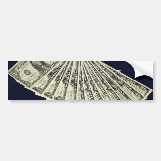 American Money & Flag Bumper Sticker