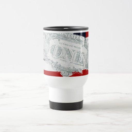 American Money & Flag Travel Mug