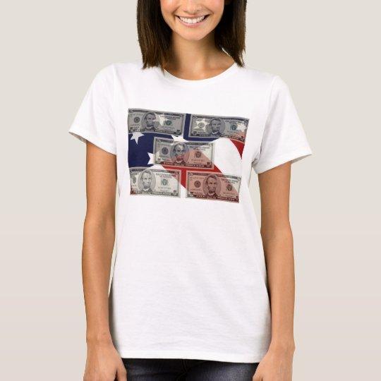 American Money & Flag Woman's T-Shirt