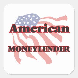 American Moneylender Square Sticker