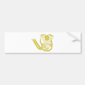 American Motorcycle Drawing Bumper Sticker
