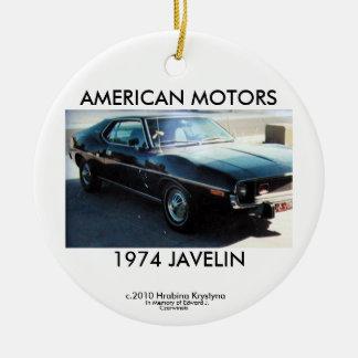 AMERICAN MOTORS 1974 JAVELIN CERAMIC ORNAMENT