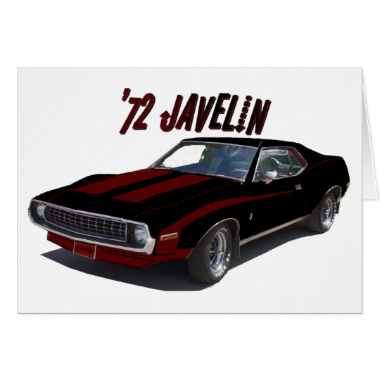 American Motors:  '72 Javelin Card