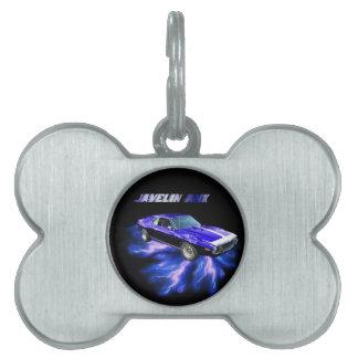 American Motors: Jabalina AMX Placas De Nombre De Mascota