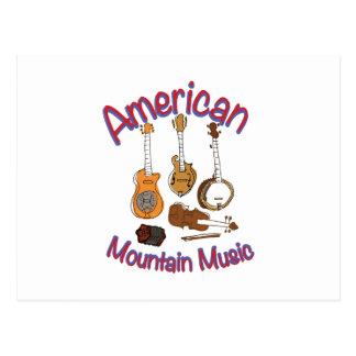 American Mountain Music Postcard