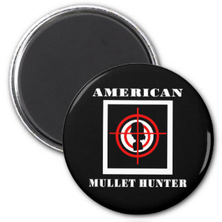 American Mullet Hunter 2 Inch Round Magnet