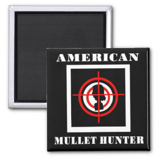 American Mullet Hunter 2 Inch Square Magnet