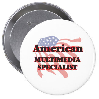 American Multimedia Specialist 4 Inch Round Button