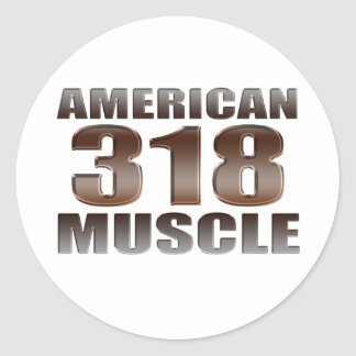 american muscle 318 round stickers