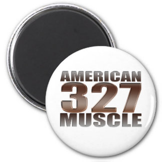 american muscle 327 2 inch round magnet