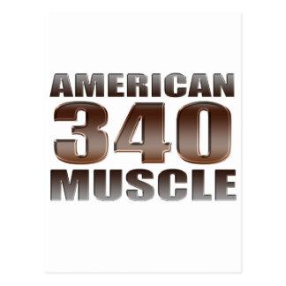 american muscle 340 postcard