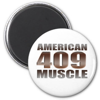 american muscle 409 2 inch round magnet