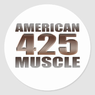 american muscle 425 nailhead classic round sticker