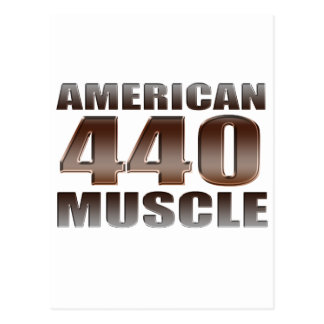 american muscle 440 postcard