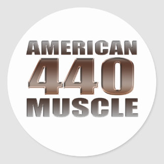 american muscle 440 round stickers