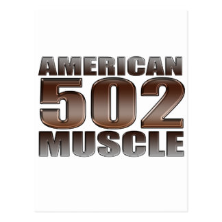 american muscle 502 chevy big block crate motor postcards