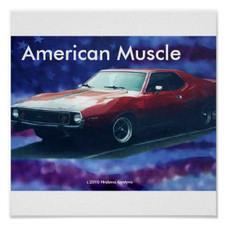 AMERICAN MUSCLE AMX AMC CAR POSTER