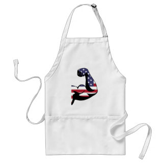 American Muscle Biceps Silhouette Adult Apron