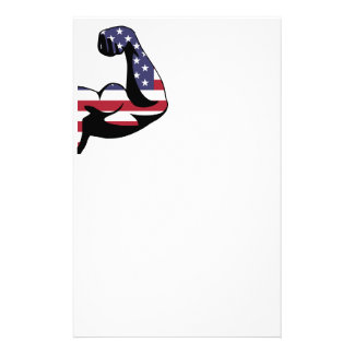 American Muscle Biceps Silhouette Customized Stationery