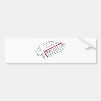 American muscle car bumper sticker