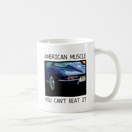 American muscle car, classic and vintage blue V8 Coffee Mug