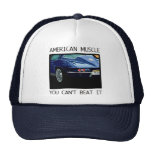 American muscle car, classic and vintage blue V8 Hat