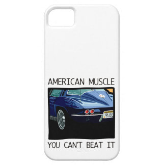 American muscle car, classic and vintage blue V8 iPhone 5 Case