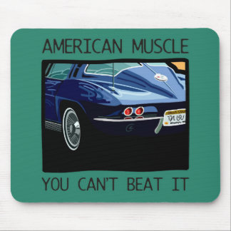American muscle car, classic and vintage blue V8 Mousepad
