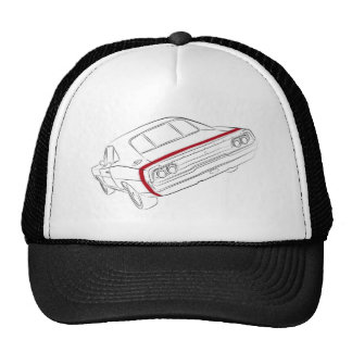 American muscle car mesh hat