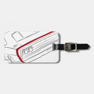 American muscle car tag for luggage