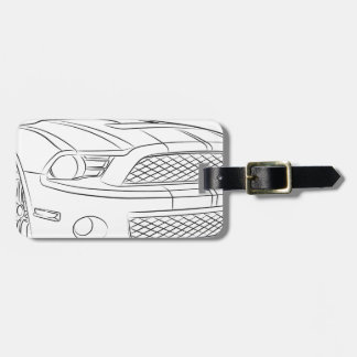 American muscle car travel bag tag