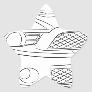 American muscle car star sticker