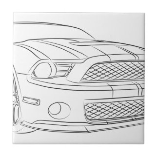 American muscle car small square tile