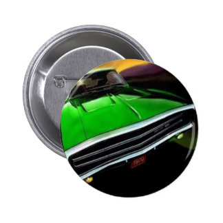 american muscle  cars charger green. button
