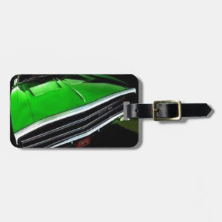 american muscle  cars charger green. luggage tag