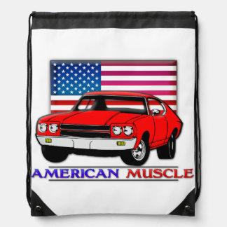 American Muscle Cars Nylon Drawstring Backpack Drawstring Bag