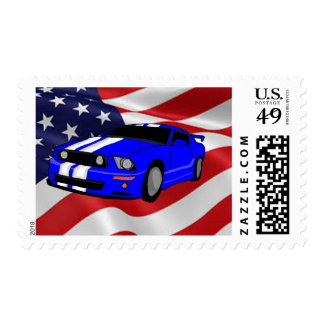 American muscle design cards and paper products postage