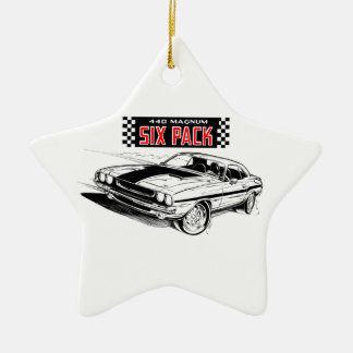 American Muscle - Dodge Challenger Ceramic Ornament