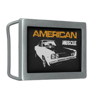 American Muscle - Mopar Dodge Coronet super Bee Rectangular Belt Buckle