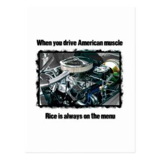 American muscle postcard