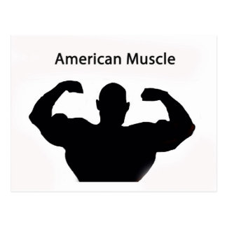 American muscle postcard