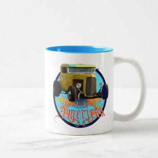 American muscle Two-Tone coffee mug