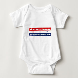 American narcissist (stars and stripes) baby bodysuit